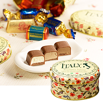 イタリアお土産 | イカム チョコレートミックス缶 6缶セット 【151569】