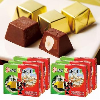 [ポルトガルお土産]ポルトガル ヘーゼルナッツチョコレート 6箱セット【151210】
