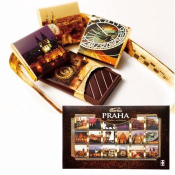 チェコお土産 | プラハチョコレート カカオ70%ダークチョコ 1箱 【105403】