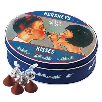 アメリカお土産 | ハーシー HERSHEY'S ノスタルジックキスチョコレート 1缶【100052】