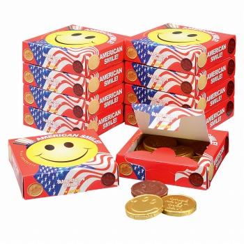 アメリカお土産 | アメリカン スマイルチョコレート 10箱セット【182044】