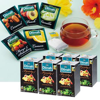 モルディブ・スリランカお土産 | ディルマ紅茶 フレーバーティーバッグ バラエティパック 5種アソート 6箱セット【174055】