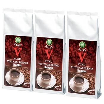 ベトナムお土産 | ベトナム KUKU(クク) レギュラー コーヒー 3袋セット【186039】