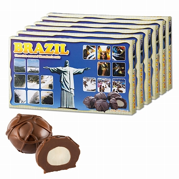 ブラジルお土産 | ブラジル マカデミアナッツチョコレート 6箱セット【182132】