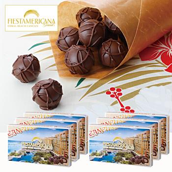 メキシコお土産 | フィエスタ・アメリカーナ・グランド・コーラルビーチ・カンクン チョコレート 6箱セット【182098】