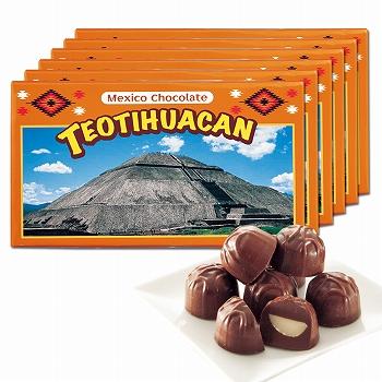 メキシコお土産 | メキシコ ティオティワカン マカデミアナッツチョコレート 6箱セット【182096】