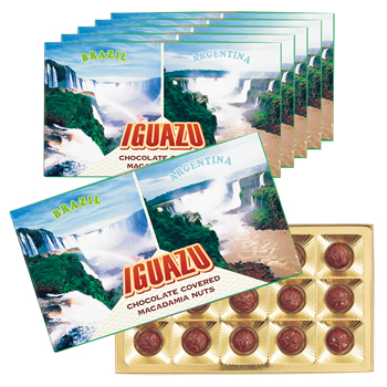 ブラジル・アルゼンチンお土産 | イグアスの滝 マカデミアナッツチョコレート 6箱セット【182131】