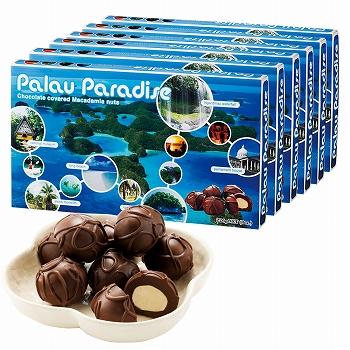 パラオお土産 | パラオパラダイス マカデミアナッツチョコレート 6箱セット【184071】