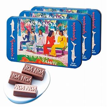 タヒチお土産 | ノアノア チョコレート 3缶セット【184107】