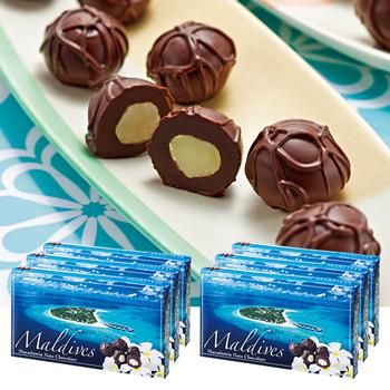 モルディブお土産 | モルディブ マカデミアナッツチョコレート 6箱セット【174038】