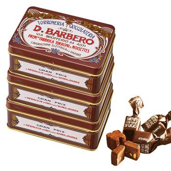 イタリアお土産 | バルベロ トリュフチョコレート ミニ缶 3缶セット【171008】