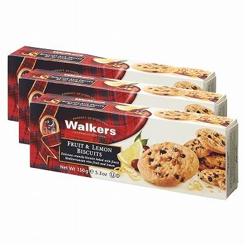 イギリスお土産 | ウォーカー フルーツ& レモンビスケット 3箱セット【171140】