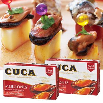 スペインお土産 | CUCA ムール貝缶 2缶セット【171178】