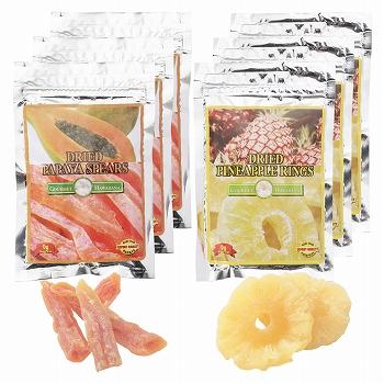 ハワイ・グアム・サイパンお土産 | ドライフルーツ パパイヤ&パイナップル 6袋セット【173072】