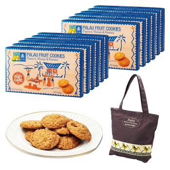 パラオお土産 | パラオフルーツクッキー12箱セット トートバッグ1枚付き(数量限定)【174068】