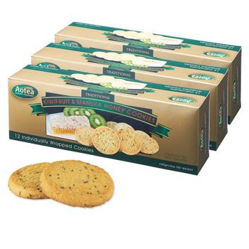 ニュージーランドお土産 | Aotea キウイ&マヌカハニークッキー 3箱セット【185061】