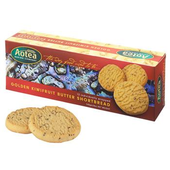 ニュージーランドお土産 | Aotea ゴールデンキウイ バターショートブレッド 1箱【185063】