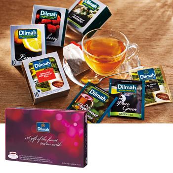 [紙袋・ラッピング付/包装紙:白地×青文字]ディルマギフトオブティー 紅茶ティーバッグ8種セット 【171326】