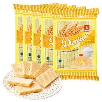 [賞味3/20]インドネシアお土産 | ドリアン風味 ウエハース 5袋セット【176202】