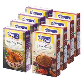 インドお土産 | パウダースパイス チキンカレー マサラ&ガラムマサラ 2種8箱セット【176104】