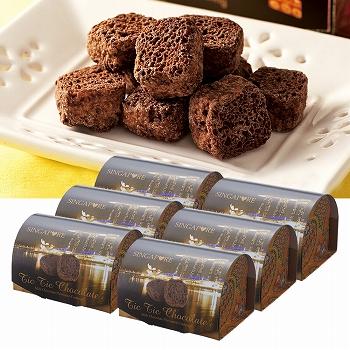 シンガポールお土産 | シンガポール チョコレート パフ 6箱セット【186052】