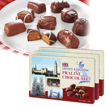 イギリスお土産 | イギリス プラリネチョコレート 3箱セット【171410】