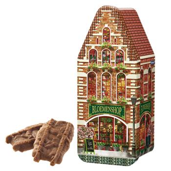 ベルギーお土産 | カラメルビスケット ハウス缶【181211】