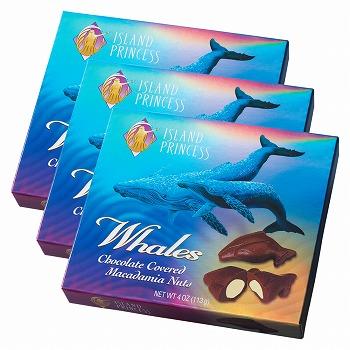 ハワイ・グアム・サイパンお土産 | アイランドプリンセス ホエールマカデミアナッツチョコレート 3箱セット【183015】
