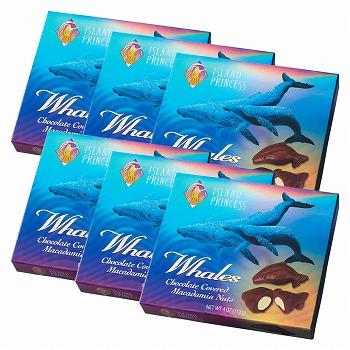ハワイ・グアム・サイパンお土産 | アイランドプリンセス ホエールマカデミアナッツチョコレート 6箱セット【183016】