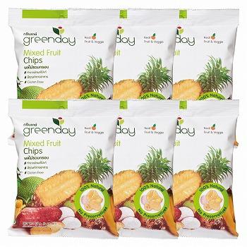 greenday (グリーンディ) ミックスフルーツチップス 6袋セット【183049】