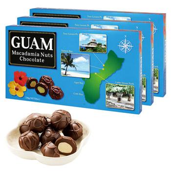 グアムお土産 | グアム マカデミアナッツチョコレート 3箱セット【184002】