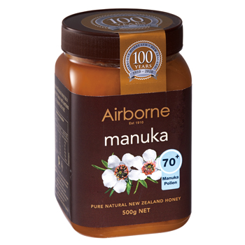 ニュージーランドお土産 | Airborne(エアボーン) マヌカハニー 500g【185069】