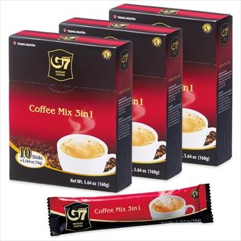ベトナムお土産 | チュングエン インスタントコーヒー 3in1 3箱セット【186036】