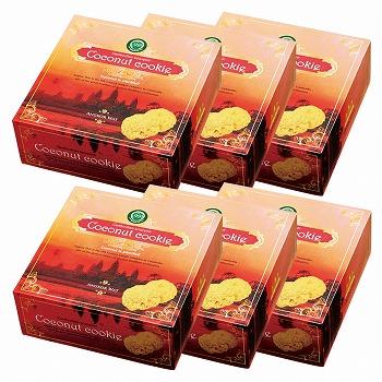 カンボジアお土産 | アンコールワット ココナッツクッキー 6箱セット【186093】