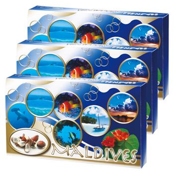 モルディブお土産 | モルディブ シーシェルチョコレート 3箱セット【184044】