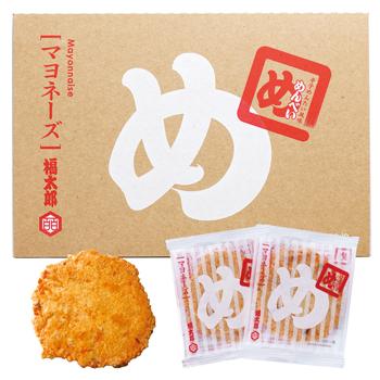 福岡土産 九州土産   めんべい(辛子めんたい風味せんべい) マヨネーズ 16袋(32枚)入り【J17505】