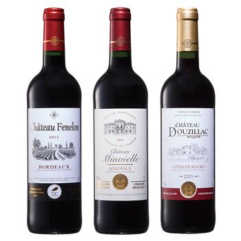 フランスお土産   ボルドー金賞赤ワイン 3本セット【R81024】