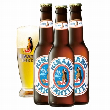 タヒチお土産 | ヒナノビール&グラスセット【R74027】