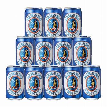 タヒチお土産 | ヒナノビール 缶入り 12缶セット【R74025】
