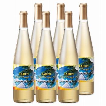 タヒチお土産 | タヒチパイナップルワイン やや甘口 6本セット【991060】