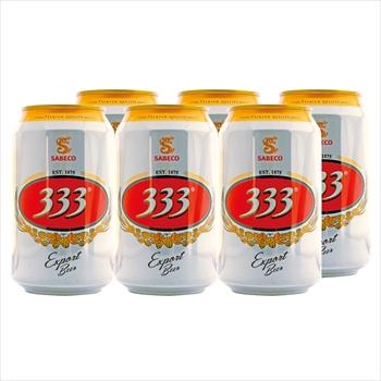 ベトナムお土産 | ベトナム 333(バーバーバー)ビール 6缶セット【R76016】