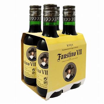 スペインお土産 | ファウスティーノ7世 赤 ミニワイン4本セット【R71062】