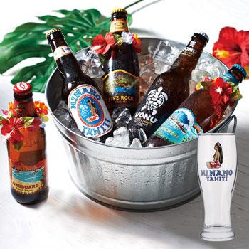 ヒナノビールグラス付き ポリネシアンビール5種セット【R85019】