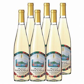 ハワイ・グアム・サイパンお土産   パイナップルワイン フルーツワイン 6本セット【R73007】