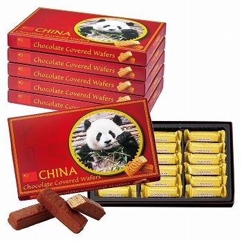 中国お土産 | 中国 チョコウエハース 6箱セット [別送][代引不可][翌日配送不可]【177108】