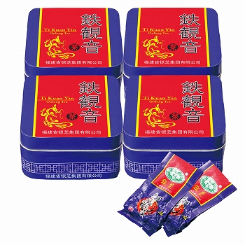 中国お土産 | 鉄観音ミニ 10袋入り 4缶セット [別送][代引不可][翌日配送不可]【177121】