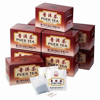 中国お土産 | プーアール茶 ティーバッグ 10箱セット [別送][代引不可][翌日配送不可]【177123】