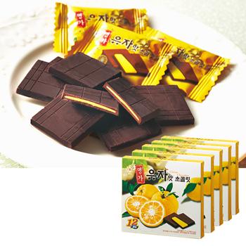 韓国お土産 | ゆず風味チョコレート 5箱セット [別送][代引不可][翌日配送不可]【178017】