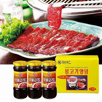 韓国お土産 | 韓国 焼肉のタレ 3瓶セット [別送][代引不可][翌日配送不可]【178010】