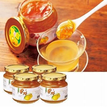 韓国お土産 | ゆず茶 4瓶セット [別送][代引不可][翌日配送不可]【178011】